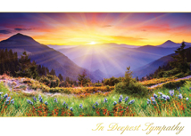 Mountain Sunset Sympathy Cards